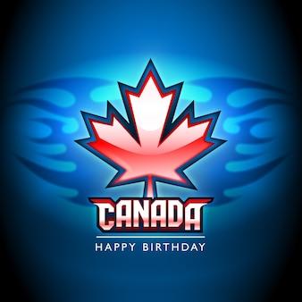 Fundo feliz do orgulho da folha de bordo do dia de Canadá