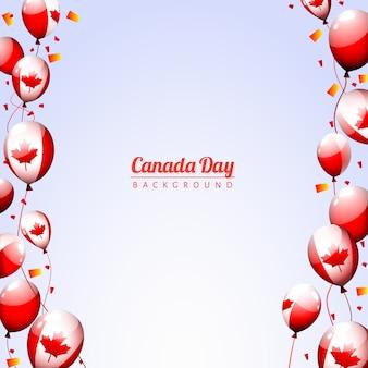 Fundo feliz dos balões do partido do dia do Canadá