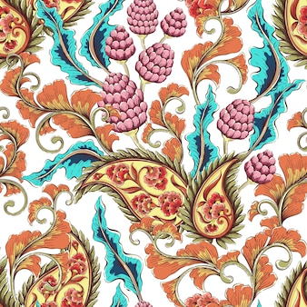 Fundo floral colorido vintage