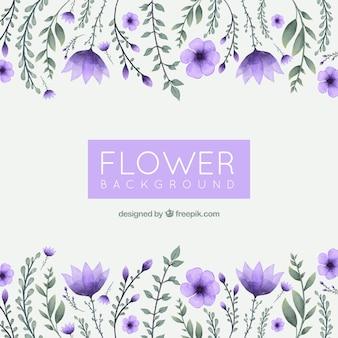 Fundo floral de aguarela com estilo elegante