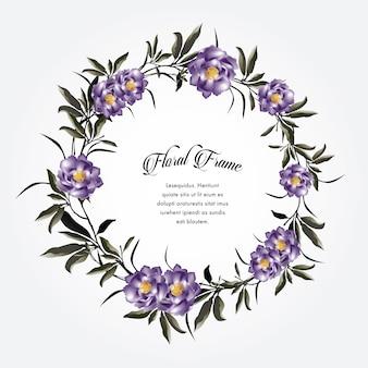 Fundo floral de grinalda