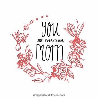Fundo floral do dia de mãe