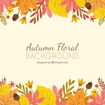 Fundo floral do outono