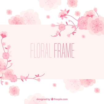 Fundo floral quadro de aquarela