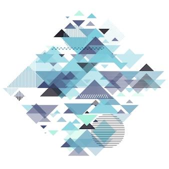 Fundo geométrico abstrato com projeto retro