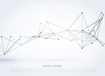 Fundo geométrico abstrato do estilo tecnologia poligonal