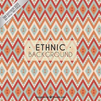 Fundo geométrico no estilo étnico