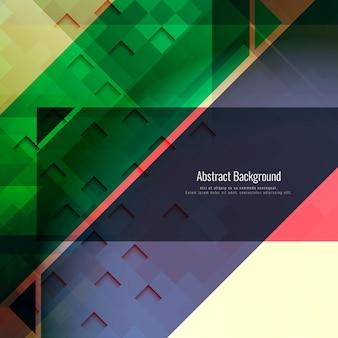 Fundo geométrico poligonal colorido abstrato