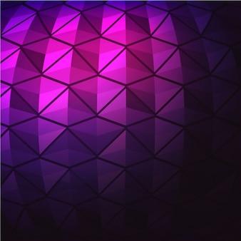 Fundo geométrico roxo com linhas pretas