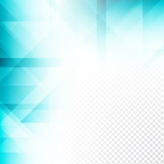 Fundo geométrico transparente de cor azul elegante