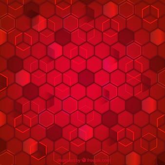 Fundo geométrico vermelho