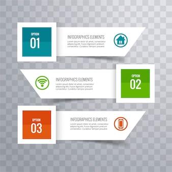 Fundo infográfico Modern