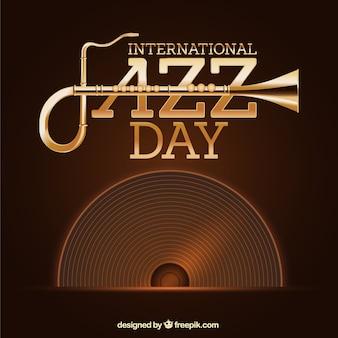 Fundo jazz Vintage com vinil