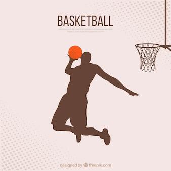 Fundo jogador de basquete