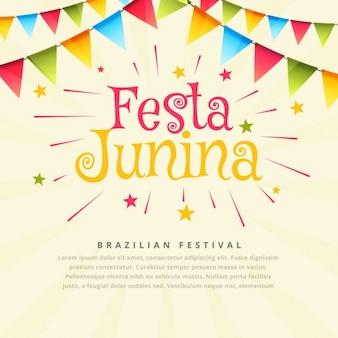 Fundo junina festa brasileira