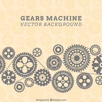 Fundo máquina Engrenagens no padrão de estilo