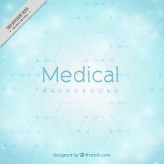 Fundo médico azul Luz