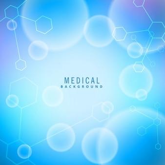 Fundo médico com moléculas