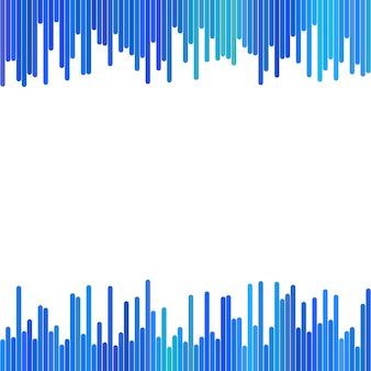 Fundo moderno de listras verticais em tons azuis - design vetorial no fundo branco