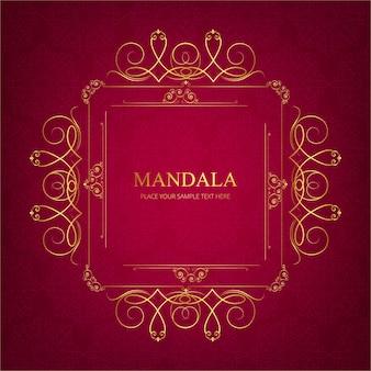 Fundo moderno de mandala