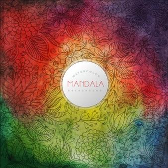 Fundo multicolor de padrão de mandala