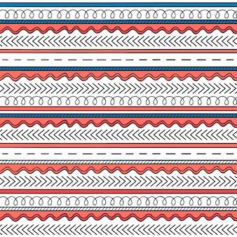 Fundo Multicolor do padrão Boho