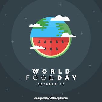 Fundo mundial do dia do dia, desenho da melancia