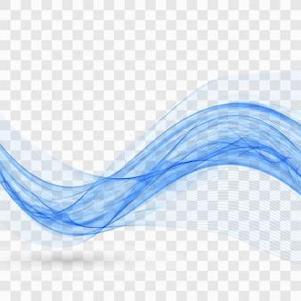 Fundo ondulado azul