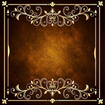 Fundo ornamental dourado