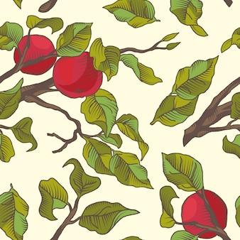 Fundo padrão de frutas