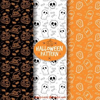 Fundo padrão de Halloween