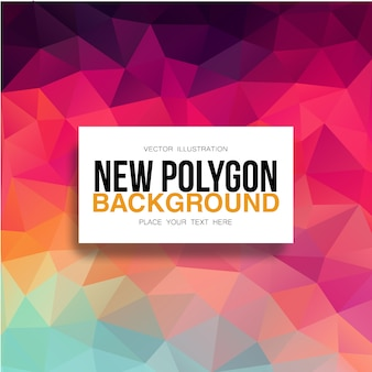 Fundo poligonal de gradiente