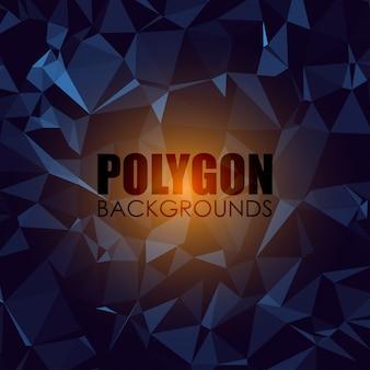 Fundo poligonal de tons de azul