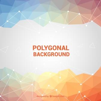 Fundo poligonal em cores suaves