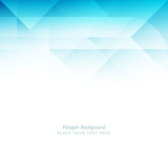 Fundo poligonal luz azul