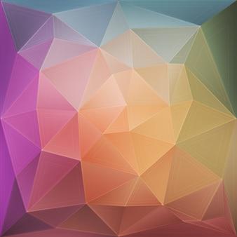 Fundo poligonal multicolorido