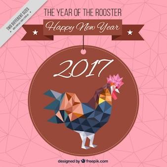 Fundo poligonal para o ano novo chinês