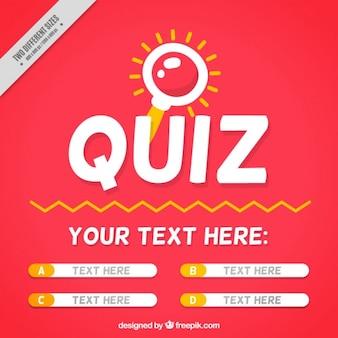 Fundo Quiz com perguntas e quatro opções