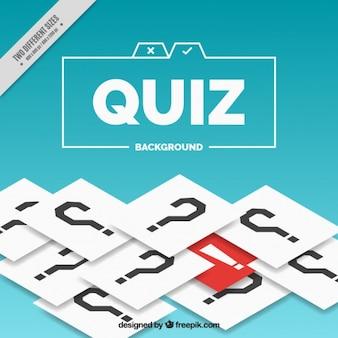 Fundo Quiz com pontos de interrogação e detalhe vermelho