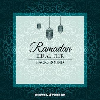 Fundo Ramadã elegante ornamental