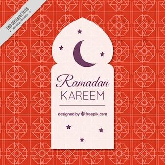 Fundo Ramadan com uma lua roxa