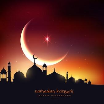 Fundo Ramadan Kareem bonita
