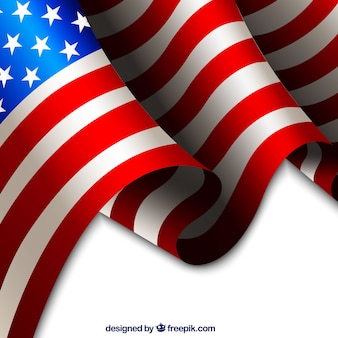 Fundo realista bandeira americana