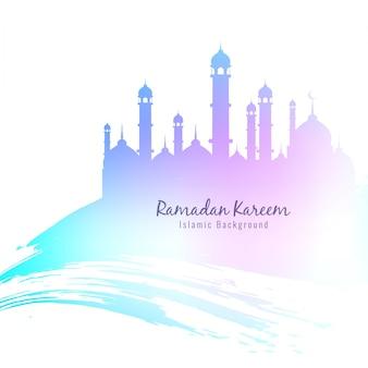 Fundo religioso colorido de Ramadan Kareem