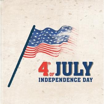 Fundo retro com a bandeira para o dia da independência