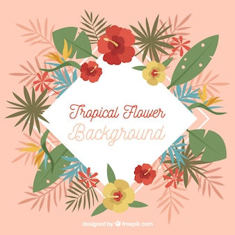 Fundo retro de decoração floral