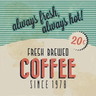 Fundo retro do café do vintage com tipografia