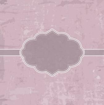 fundo rosa Grunge com emblema