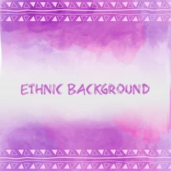 Fundo roxo étnico