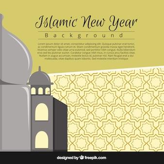Fundo simples do ano novo islâmico